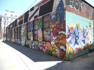 alleyway toronto ontario canada graffiti