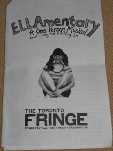 ellamentary toronto fringe festival theatre play musical
