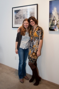 emer schlosser and jamie day fleck at the elaine fleck gallery in toronto