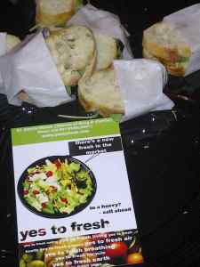 yes to fresh sandwich