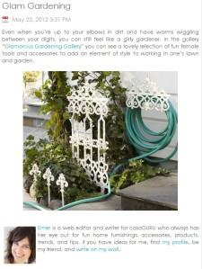 glamorous girly girlie gardening tools accessories
