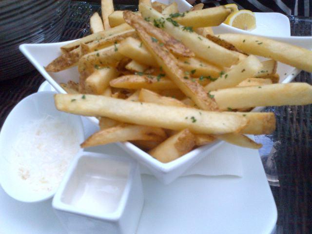 ritz-carlton deq food toronto restaurant truffle frites