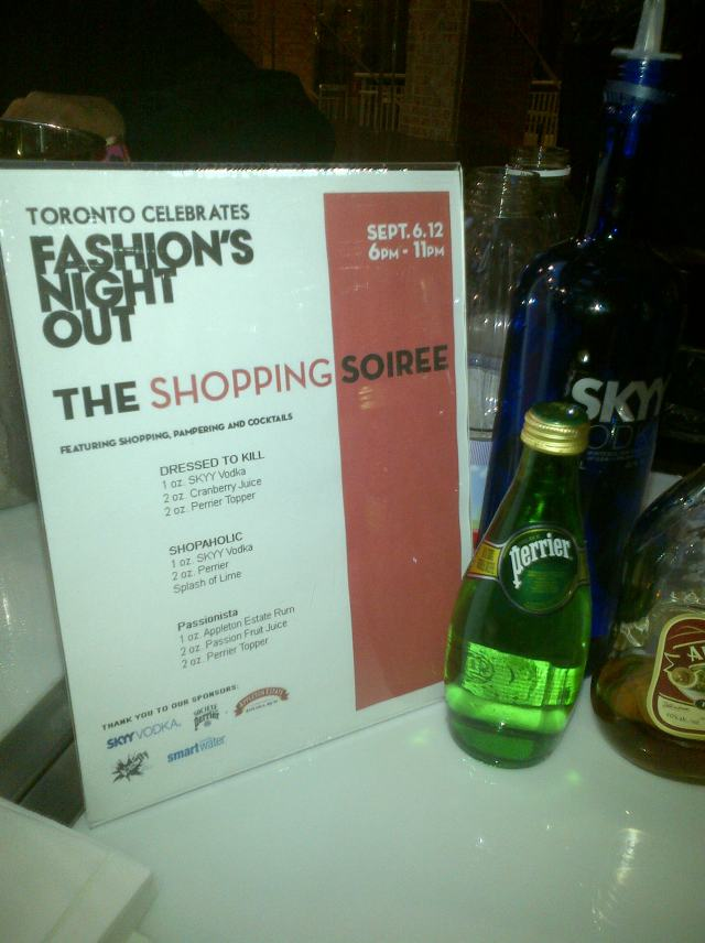 fashion night out toronto
