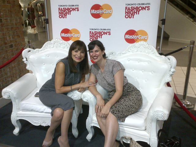 jeanne beker emer schlosser fashion's night out master card hazelton lanes